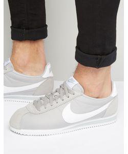 Nike | Нейлоновые Кроссовки Classic Cortez 807472-010 Серый