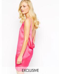 Solace | Платье С Глубоким Декольте Спереди И Глубоким Драпированным Вырезом На