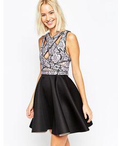 Asos | Короткое Приталенное Платье С Кружевным Лифом