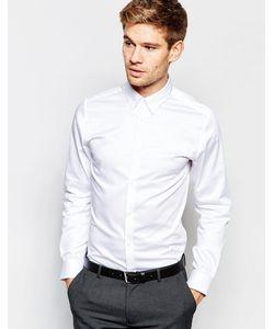 Selected Homme | Рубашка Зауженного Кроя С Воротником На Пуговицах Белый