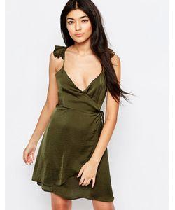 WYLDR | Платье С Запахом И Оборками Spoken Thoughts Зеленый