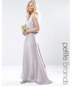 TFNC Petite | Свадебное Платье Макси С Сатиновым Бантом Сзади Лаванда