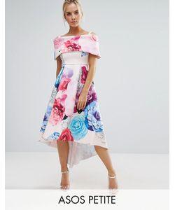 ASOS PETITE | Платье Макси С Открытыми Плечами И Цветочным Принтом