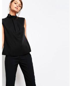 Closet | Блузка С Высоким Воротом И Декоративной Вставкой