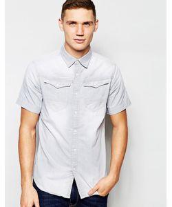 G-Star | Серая Джинсовая Рубашка С Короткими Рукавами Arc 3d C