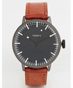 Tsovet | Часы С Коричневым Кожаным Ремешком