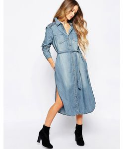 Hazel | Платье-Рубашка С Длинными Рукавами И Вышивкой