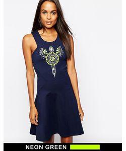 Closet | Платье С Отделкой И Расклешенной Юбкой
