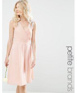 TFNC Petite | Платье Миди Для Выпускного С Декорированными Плечиками Wed