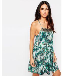 Hazel | Платье На Бретельках С Декорированной Вставкой