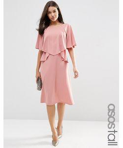 ASOS TALL | Пышное Платье Миди С Рюшами Mauve
