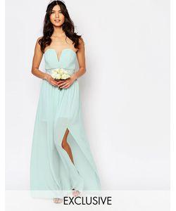 TFNC | Платье Макси С Декорированной Талией И Складками Wedding Morning