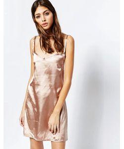 See You Never Denim | Золотисто-Розовое Платье-Сорочка See You Never Розовое Золото