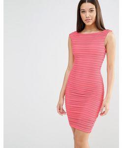 Lipsy | Облегающее Платье Миди Красный