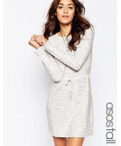 ASOS TALL | Трикотажное Платье С Завязкой На Талии Серый
