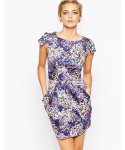 Closet   Платье-Футляр С Завязкой Сзади И Цветочным Принтом