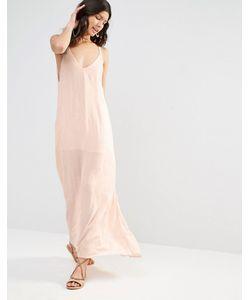FLYNN SKYE | Платье Макси С Вышитыми Стрелками Blush Cluster