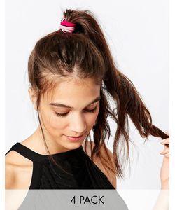 Kat&Bee | Набор Из Четырех Резинок Для Волос С Бусиной На Кольцах И