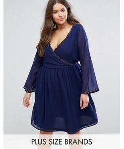 Koko   Короткое Приталенное Платье С Отделкой Бисером Plus