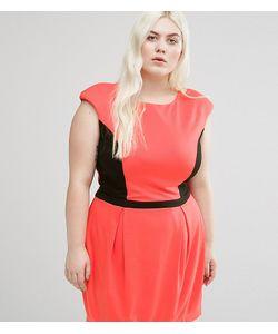 Koko | Платье С Контрастной Вставкой Plus