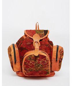 Hiptipico | Гобеленовый Рюкзак С Кожаной Отделкой Rose