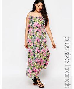 NVME | Платье Макси С Тропическим Цветочным Принтом Plus Мульти