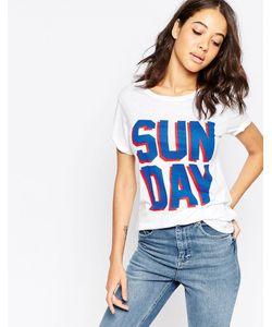 South Parade | Футболка С Надписью Sunday Белый
