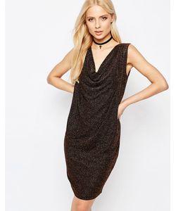 ICHI | Платье Со Свободным Воротом Спереди И V-Образным Вырезом Сзади Kamia