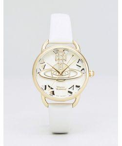 Vivienne Westwood   Часы С Бежевым Кожаным Ремешком Vv163cmcm
