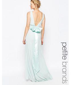 TFNC Petite | Свадебное Платье Макси С Сатиновым Бантом Сзади Мятный