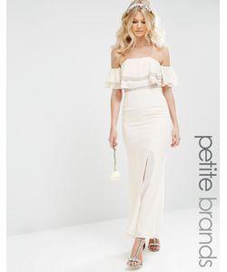 TFNC Petite | Платье Макси С Открытыми Плечами И Отделкой