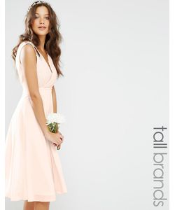 TFNC Tall | Платье Миди Для Выпускного С Декорированными Плечиками Weddi