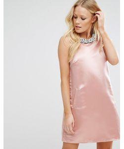 True Decadence | Трапециевидное Платье Мини С Отделкой Sugar Pink