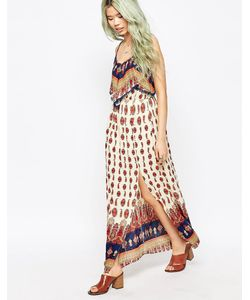 Hazel | Платье Макси В Богемном Стиле С Принтом Коралловый