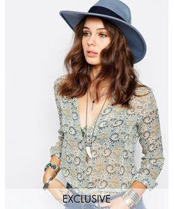 Catarzi | Голубая Шляпа С Широкими Полями