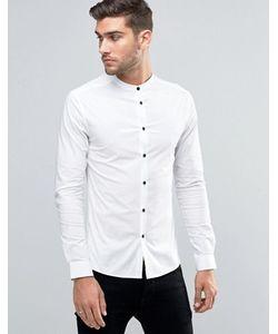 Asos | Рубашка Суперзауженного Кроя С Контрастными Пуговицами