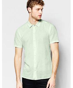 Asos | Бледно-Зеленая Рубашка С Короткими Рукавами Мятный
