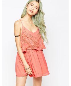 Hazel | Платье На Тонких Бретельках Розовый