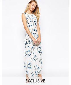 Frock and Frill | Платье Макси C Вышивкой В Цветочек