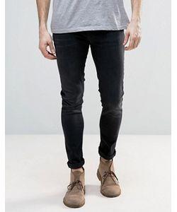 Nudie Jeans Co | Черные Супероблегающие Джинсы Nudie