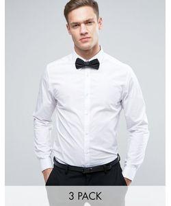 Burton Menswear | Облегающая Рубашка С Запонками И Галстуком-Бабочкой