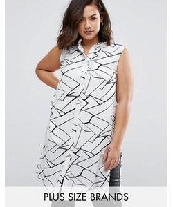 Koko | Рубашка Размера Плюс С Абстрактным Принтом