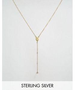 Dogeared | Позолоченное Ожерелье С Медальоном Mother Mary С Лабрадоритом