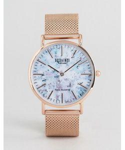Reclaimed Vintage | Часы С Мраморным Принтом И Золотисто-Розовым Сетчатым Ремешком