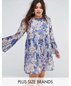 Missguided Plus | Плиссированное Платье С Цветочным Принтом