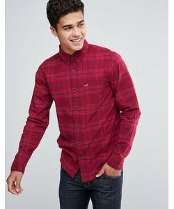 Hollister | Рубашка Из Поплина В Однотонную Клетку