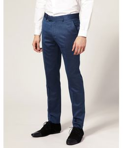 Ben Sherman Tailoring | Синие Брюки Без Защипов Спереди Ben Sherman