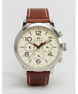 Tommy Hilfiger | Кожаные Часы С Хронографом Jake 1791230 Коричневый