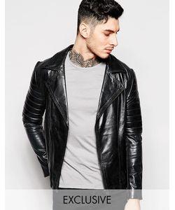 Black Dust | Кожаная Байкерская Куртка