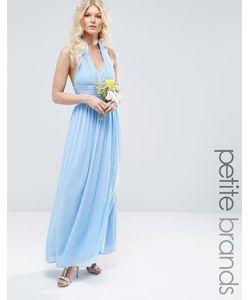 TFNC Petite | Шифоновое Платье Макси С Халтером Wedding Синий